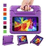 NEWSTYLE Shockproof Light Weight Kids Case with Protection Cover Handle and Stand for Samsung Galaxy Tab 4 7-inch, SM-T230, SM-T231, SM-T235 - Purple