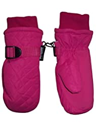 N'Ice Caps Kids Unisex Thinsulate and Waterproof Quilted Winter Ski Mittens
