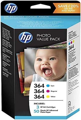 Hp - Photo value pack 364 series 50 sheets 10x15 cm - cartucho de tinta para impresoras (cian,
