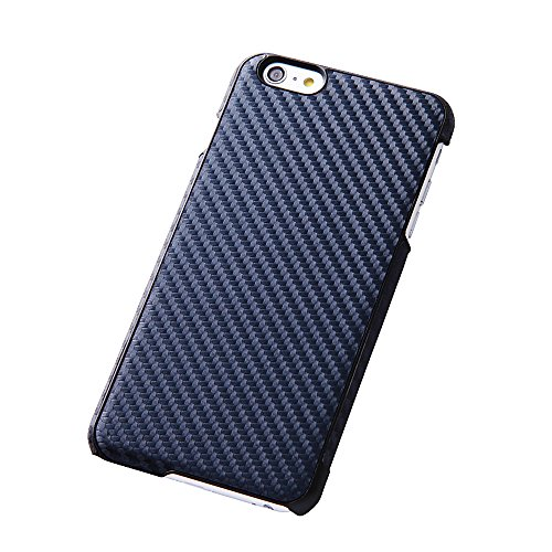 Open Type Texture Leather Style Jacket for iPhone 6 Plus (Carbon Navy)