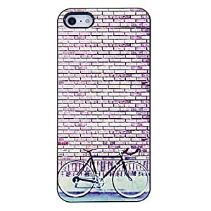 JOEFresh Style Bicycle Pattern Aluminous Hard Case for iPhone 5/5S