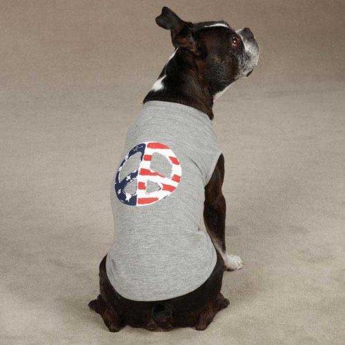 Americana Peace Flag Dog Tanks Size: Small / Medium, My Pet Supplies