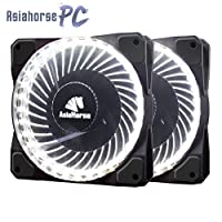 Asiahorse Solar Eclipse MIRAGE 32LED 120mm Cooling PC Compute custom Quiet case fan 2PACK(WHITE)