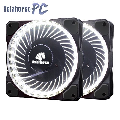 Asiahorse Solar Eclipse Mirage 32LED 120mm Cooling PC Compute Custom Quiet case Fan 2PACK(White) ()
