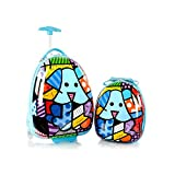 Heys America Britto Egg Shape Kids Luggage Set with Backpack (Multi-Britto Blue Dog)