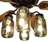 LAMP GOODS Mason Jar CEILING FAN Light Kit New Quart Jars