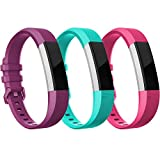 Fitbit Alta HR Bands-Fitbit Alta Band-Pack of 3(Purple,Teal,Hot Pink)Large,RedTaro Adjustable Replacement Accessory Bands/Straps for Fitbit Alta HR/Fitbit Alta for Women/Men(no Fitbit Fitness Tracker)