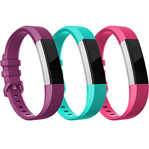 Fitbit Alta HR Bands-Fitbit Alta Band-Pack of 3(Purple,Teal,Hot Pink)Small,RedTaro Adjustable Replacement Accessory Bands/Straps for Fitbit Alta HR/Fitbit Alta for Women/Men(no Fitbit Fitness Tracker)