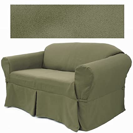 Ultra Suede Sage Pine Furniture Slipcover Sofa 646