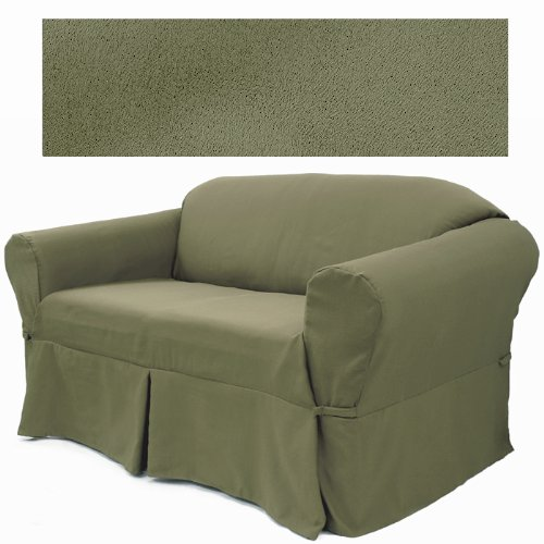 - Ultra Suede Sage Pine Furniture Slipcover Sofa 646