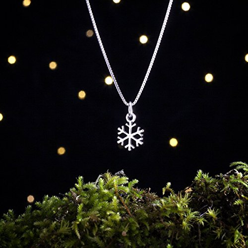 (Sterling Silver Snowflake, Winter, Snow - Small, Double Sided - (Charm, Necklace, or Earrings))