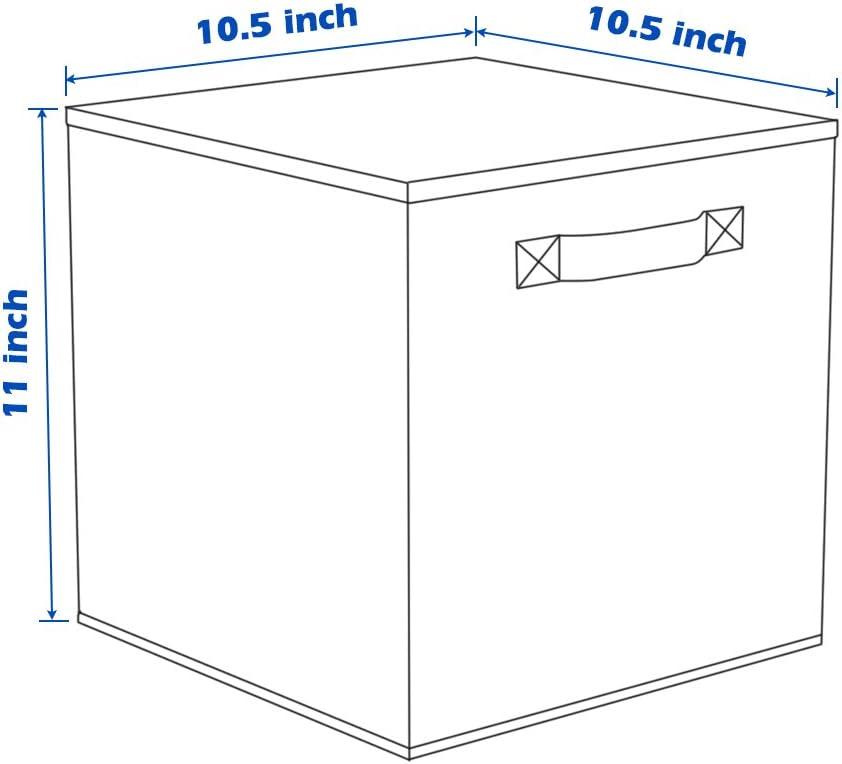 Shellkingdom Foldable Cloth Storage Cube Basket Bins Organizer Containers Drawers 6, Lavender