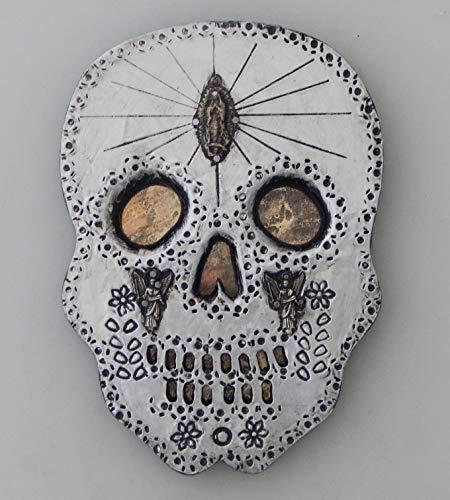 Color y Tradicion Mexican Tin Skull Wall Hanging Folk Art Handmade Day of The Dead # 135