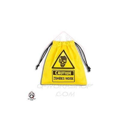 Amazon.com: Zombie Dados Bolsa Amarillo Junta Juego: Toys ...
