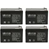 WKA12-12F2 Genuine 12 volt 12ah Battery [Electronics] - 4 Pack