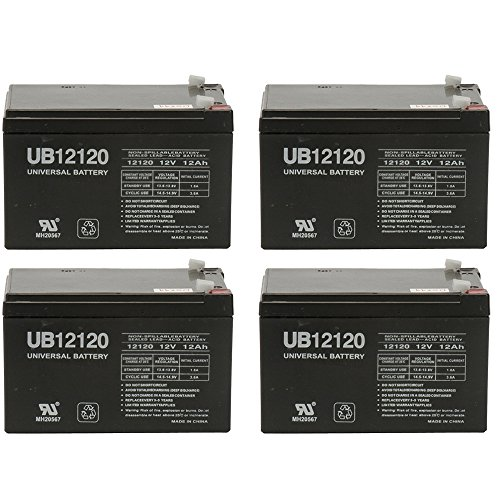 WKA12-12F2 Genuine 12 volt 12ah Battery [Electronics] - 4 Pack by Universal Power Group