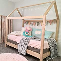 House Bed Frame Twin Size with legs (del...