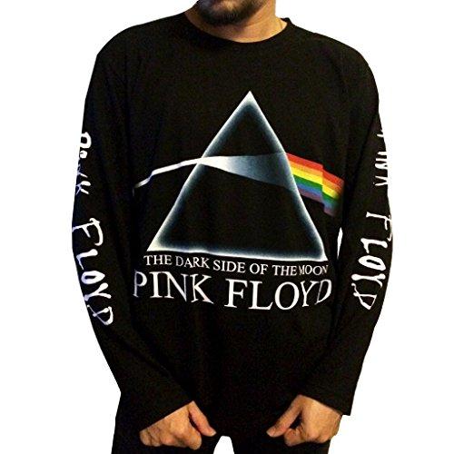 Jigg And Roll Men's Pink Floyd Dark Side of the Moon T-Shirt Long Sleeve Meduim Black Long Sleeve Band Shirts