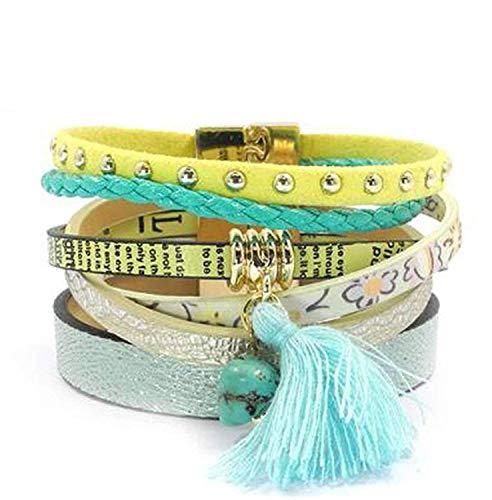 spyman Perfect Summer Leather Bracelet 5 Color Women Charm Bracelets Bohemian Bracelets & Bangles Wholesale Jewelry for Women Nice (Online Discount Draperies)