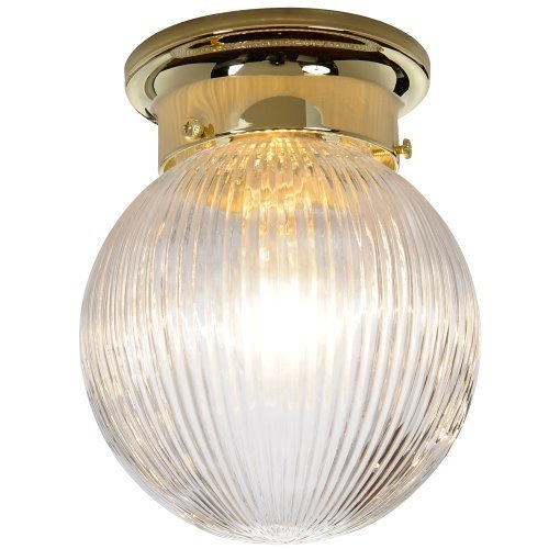 (Royal Cove 671340 Surface Mount Ceiling Fixture, Polished Brass, 6 X 7-1/8 In. by AF Lighting)