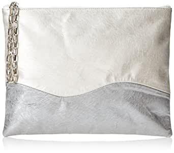 Lauren Merkin Winnie Clutch,Pale Gold/Pewter,One Size