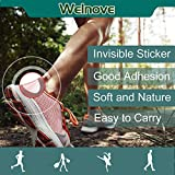 Welnove - Blister Pads, Heel Bandages for Blisters, Oval Blister Gel Guard, Waterproof Hydrocolloid Adhesive Bandages for The Foot, Pressure Wound, Guard Skin, Blister Protection - 15 Packs