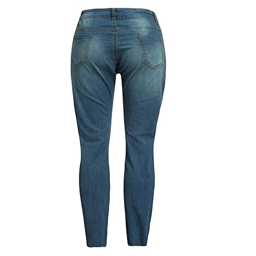 8ce42faee73 Memela Plus Size Womens Super Comfy Stretch Denim Jean Slim Skinny High  Waist Trousers at Amazon Women s Jeans store