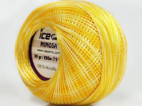 Variegated Yellow Shades Mimosa Size 10 Microfiber