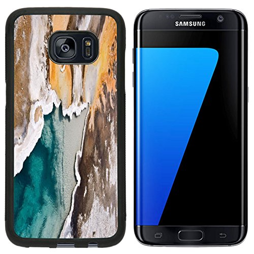 Liili Samsung Galaxy S7 Edge Aluminum Backplate Bumper Snap Case iPhone6 IMAGE ID 33280495 Upper Geyser basin Yellowstone National park USA ()