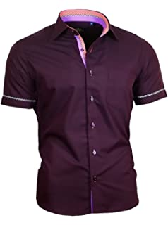 0fee1e9251ec Binder de Luxe Herren Hemd Shirt modern fit mit Brusttasche Kurzarm  Kentkragen 840