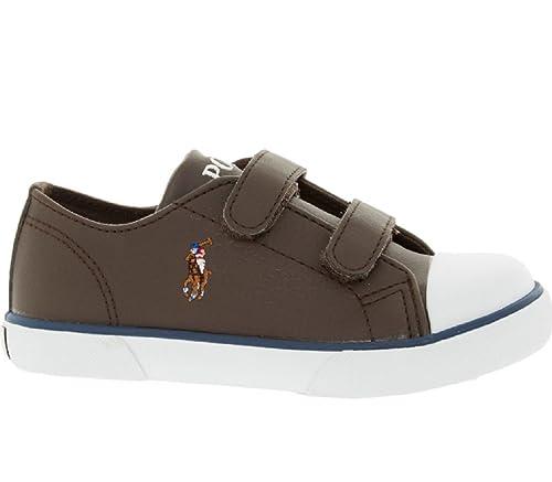 Ralph Lauren - Zapatillas de Piel para niño Marrón marrón 25 EU: Amazon.es: Zapatos y complementos