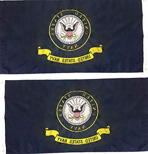 Heaven Embroidered Tunic - Hebel 2x3 Embroidered U.S. Navy Emblem Crest 210D Nylon Double Sided Flag | Model FLG - 915