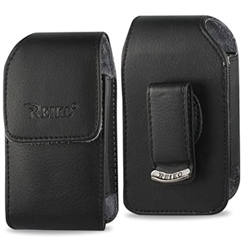 Vertical Executive Leather Case with Magnetic closure with swivel belt clip for LG Cosmos 3 vn251s (Cell Phone Cases Lg Cosmos 3)
