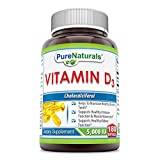 Cheap Pure Naturals PN-077 Vitamin D3 5000 IU Softgels, 180 Count
