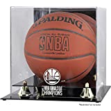 Sports Memorabilia Golden State Warriors 2018 NBA Finals Champions Logo Golden Classic Basketball Display Case with Mirrored Back - Fanatics Authentic Certified