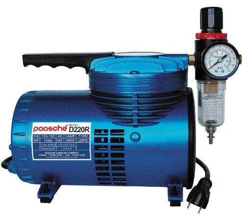 - Paasche D220R 1/6 HP Compressor with Regulator and Moisture Trap