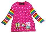 Peppa Pig Girls Long Short Sleeve T-Shirt Dress Top