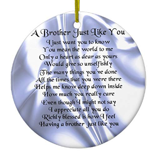 Brother Poem Blue Silk Ceramic - Little Ornament Brother