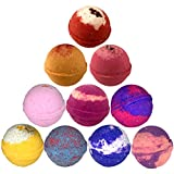 Lush Ingredients Bath Bombs Bath Bombs with Moisture Resistant Bag Wrapped, 4.5 Ounce (Pack of 10)