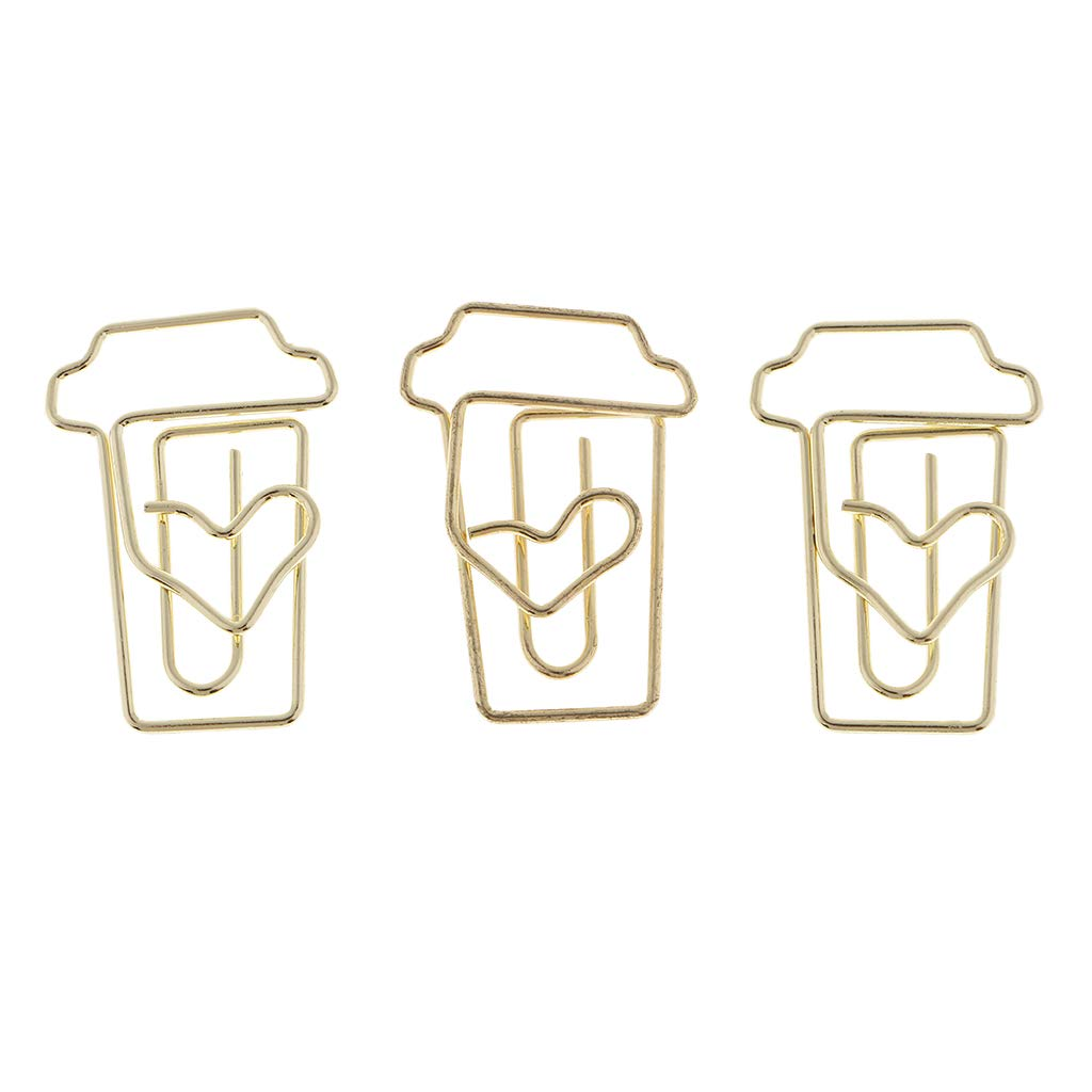 Creative Coffee Cup Shapes Paper Clips for Professional Work/&Christmas Decoration HOT