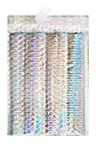Bubble mailers 9.5 x 13.5 Padded envelopes 9 1/2 x 13 1/2 by Amiff. Pack of 10 Glamour Holographic cushion envelopes. Exterior size 10x14. Colorful design. Metallic. Holo. Mailing, shipping, packing.