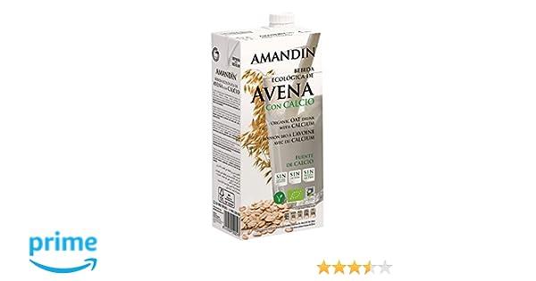 Amandin Bebida de Avena con Calcio - Paquete de 6 x 1000 ml - Total: 6000 ml: Amazon.es: Alimentación y bebidas