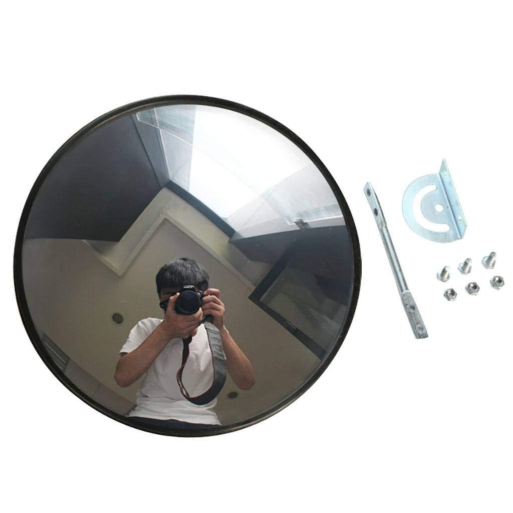 Miroir de s/écurit/é miroir acrylique noir pour langle mort du garage Vue de c/ôt/é de lentrep/ôt S/écurit/é des magasins Miroir mural pour /À titre individuel ou Usage de bureau-15cm