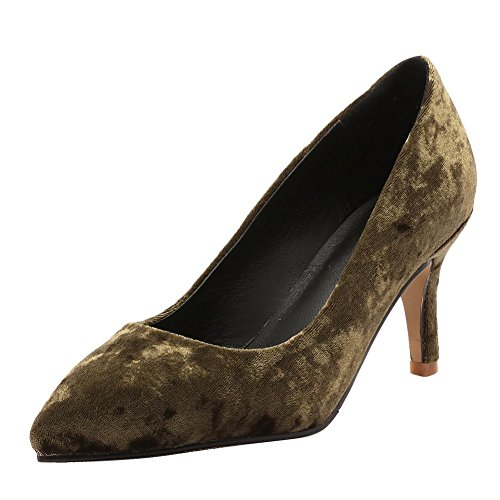 Women's Toe Carolbar Pointed Olive Heel Green Fashion High Dress Shoes Stiletto Chic x7xUqfdHwI