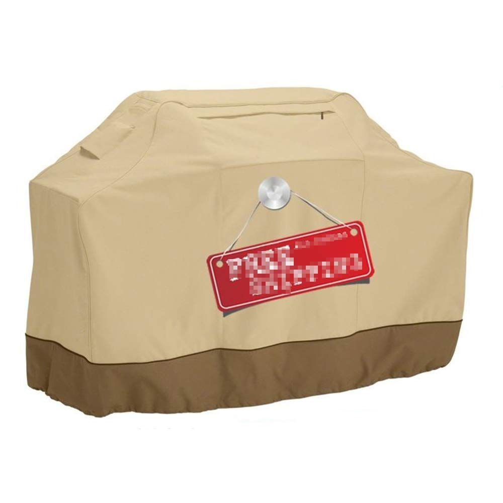 Protective Cover Furniture Cover, Outdoor Beige BBQ Pits Dust Cover, Waterproof/UV Resistant,Beige,145 * 61 * 117cm