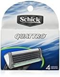 Schick Quattro Refill Cartridges, 4 Cartridges
