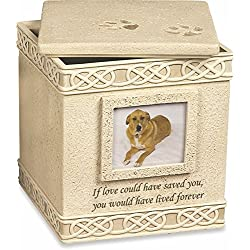 "Pet Urn Memorial ""If Love Could Have Saved You..."" - Top Opening"