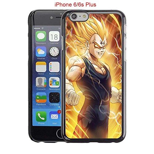 iPhone 6 Plus Case, iPhone 6S Plus Cases, Majin Vegeta 02 Drop Protection Never Fade Anti Slip Scratchproof Black Hard Plastic Case