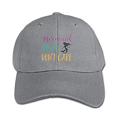 Mermaid Hair Don't Care Funny Kids Baseball Cap Plain Washed Low Profile Cotton Trucker Hat