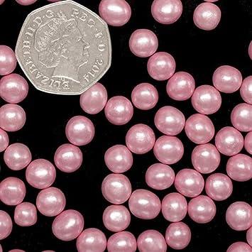Natural 8 mm rosa tuercas leche de soja Gluten OMG libre Shimmer - perlas: Amazon.es: Hogar